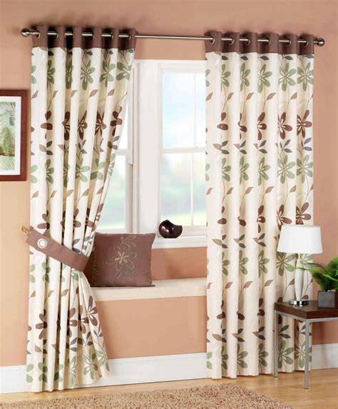 Living Room Exquisite Image Of Living Room Decoration Using Cream Flower Pattern Curtain Drapes