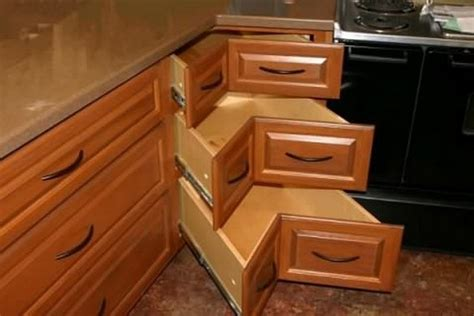 lazy susan cupboard comocriarfacebook com diy corner cabinet drawers the owner builder network