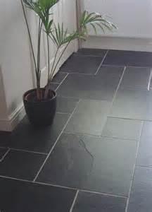 black slate flooring that just looks amazing kitchen