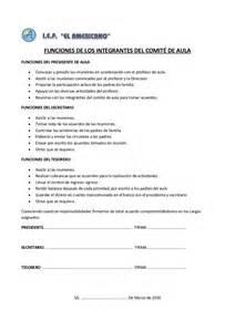 acta entrega declaracin anual 121 comit 233 de aula funciones y acta