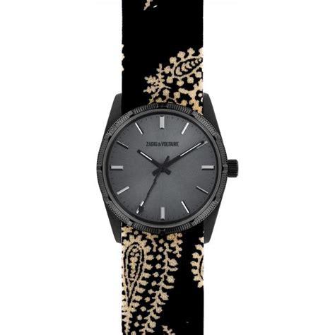 montre zadig et voltaire fusion zvf206 2 montre grise tissu femme sur bijourama montre femme