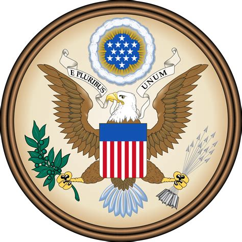 vector emblem of the united states great seal usa great