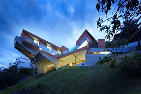 cantilever house design by brazil architecture firm