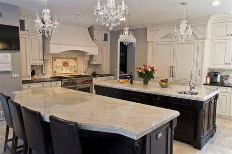 Taj Mahal Granite Kitchen by Quartzite Countertops