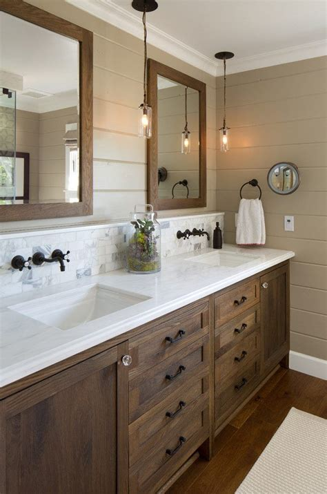 Farm Style Bathroom Vanity Best 25 Wood Cabinets Ideas On Large Kitchen Cabinets Magnolia Design Center And