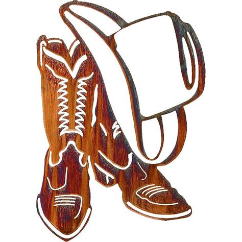 cowboy boots  hat western wall art cabin place