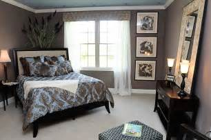 Blue and brown bedroom color scheme home decor house painting