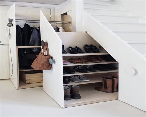 foyer shoe storage entryway shoe storage ideas stair stabbedinback