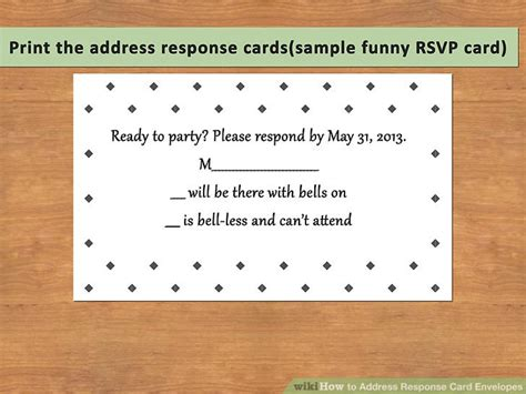 how to address a wedding rsvp card how to address response card envelopes with pictures wikihow
