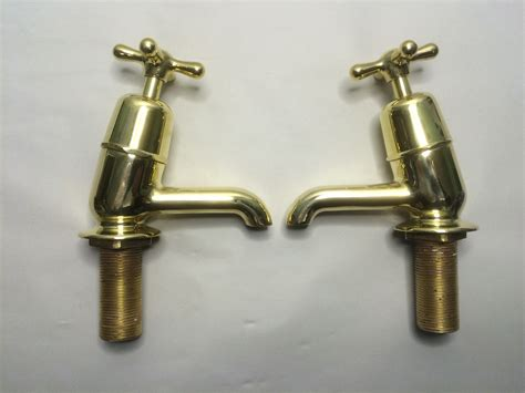brass bathroom taps uk polished brass angled bath taps