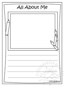 all about me coloring pages memory book all about me coloring
