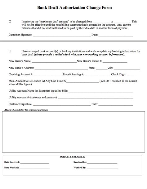 Letter Of Credit Bank Draft Form Payment Options City Of Duncanville Usa