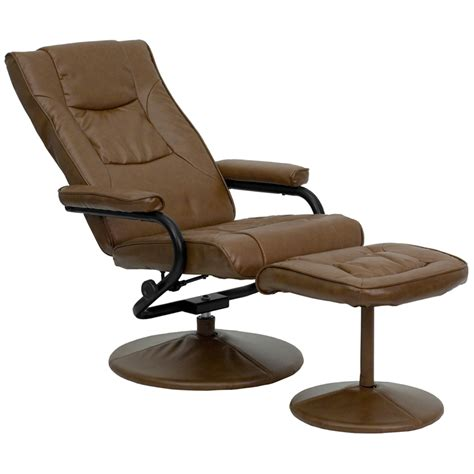 leather recliner and ottoman contemporary palimino leather recliner and ottoman with