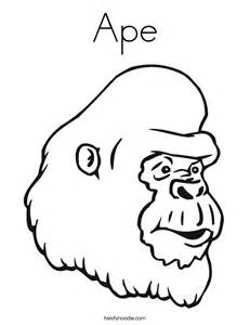 Cool Gorilla Animals Characters  LZK Gallery sketch template