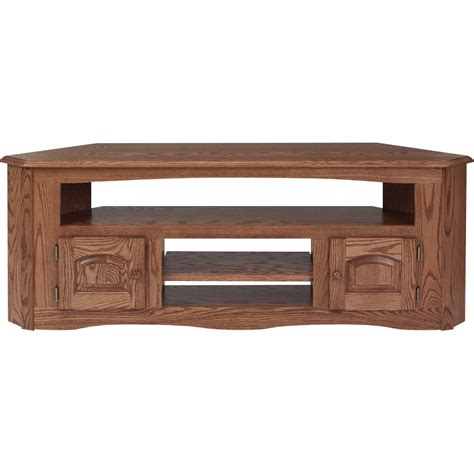 solid oak country style corner tv stand 61 quot the oak