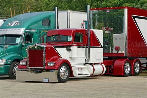 kenworth aftermarket 1995 kenworth custom w900l with matchin van semi