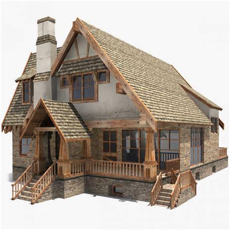 low poly house 3d model cgstudio