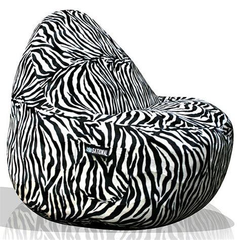 Zebra Print Bean Bag Chair Walmart by Zebra Beanbag Chair