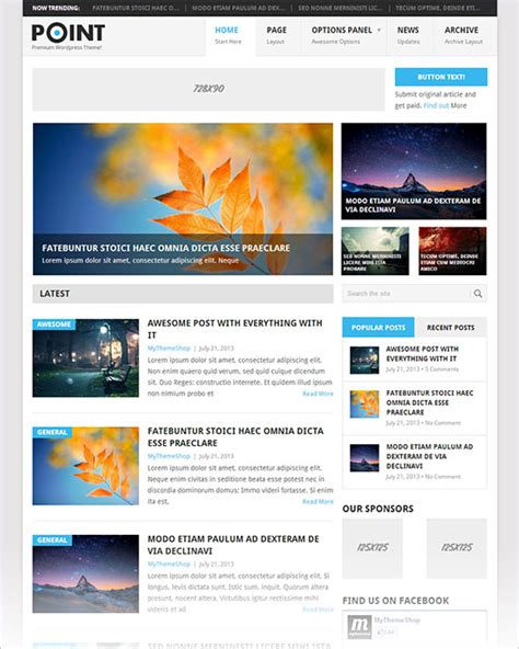 themes wordpress free premium 12 best free blog business wordpress themes for october