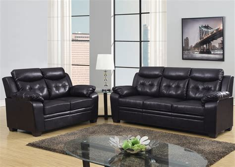 Leather Apartment Sofa Espresso Apartment Size Casual Contemporary Bonded Leather Sofa Set