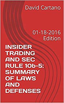 section 10b and rule 10b 5 insider trading and sec rule 10b 5 summary of laws and