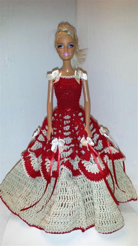 fashion doll jeux crochet gown bonneterie clothese pour par