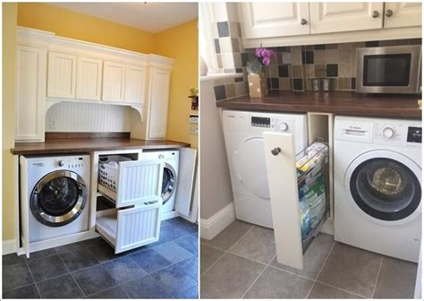 pull out table between washer and dryer pull out laundry design decoration