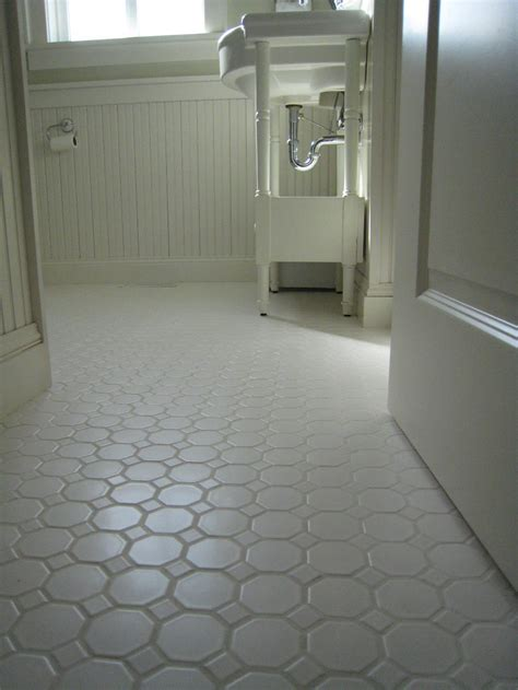 Unique Bathroom Flooring Ideas Octagonal Tile Flooring Bathroom Room Design Ideas