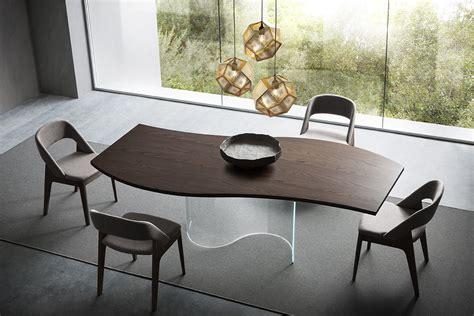 tavoli soggiorno legno tavolo in legno e vetro onda napol arredamenti