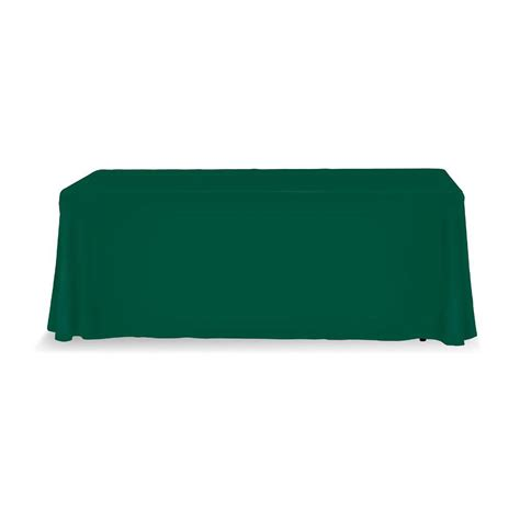 Table Throws by Table Throw 6ft 3 Sided Green No Print