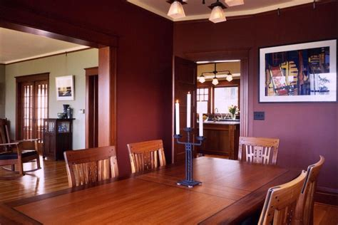 craftsman style dining room  maroon discovered