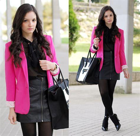 blackpink zara alba zara blazer zara shirt h m skirt mustang heels