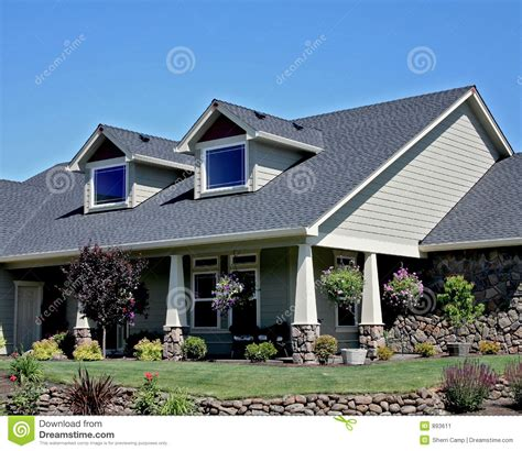 style of house american craftsman style house stock image image 893611