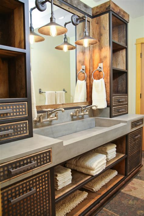 industrial style bathroom vanity how to decorate a stylish and functional industrial