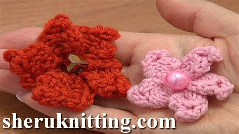 knitted flower pattern youtube knitted 5 petal flower tutorial 5 knit bobble stitch youtube