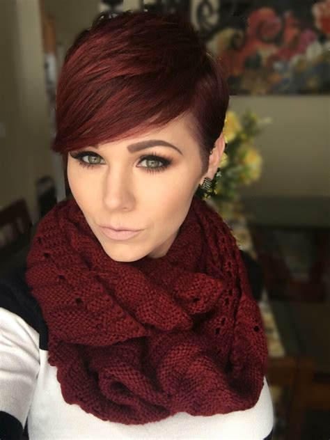 pixie cuts cherry brown red pixie hairstyles inspiration pinterest red pixie