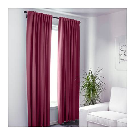 werna curtains werna block out curtains 1 pair dark red 145x300 cm ikea