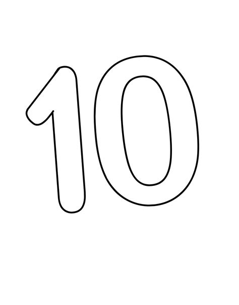 coloring pages of the number 10 picture of number 10 for children activity shelter