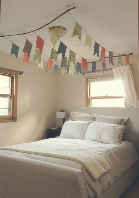 things to hang from ceiling in bedroom canopies flags and branches on pinterest