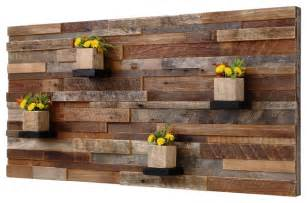 Rustic Wood Wall Decor by Reclaimed Barn Wood Wall With Shelves 4 X2 Rustic