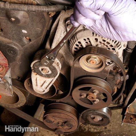 changing  car serpentine belt  family handyman