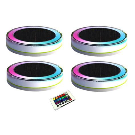 eleding 4 light white plastic outdoor deco led rgb