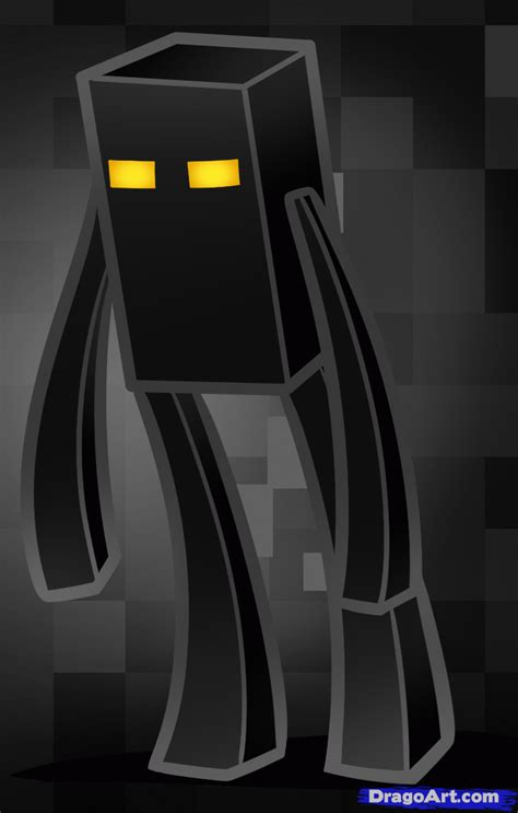 minecraft how to a how to draw enderman minecraft step by step characters pop culture