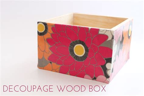How To Decoupage A Box - decoupage wood box thesassylife