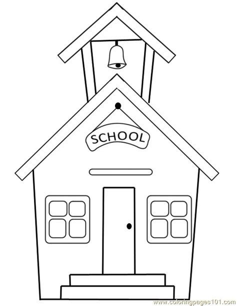 School Coloring Page coloring pages school building education gt school free printable coloring page