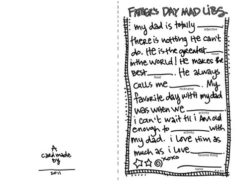 s day mad libs card for your kiddos to fill in and color just for yay a printable
