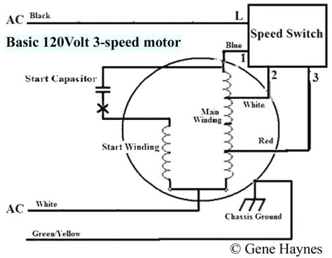 single phase fan motor wiring diagram with capacitor