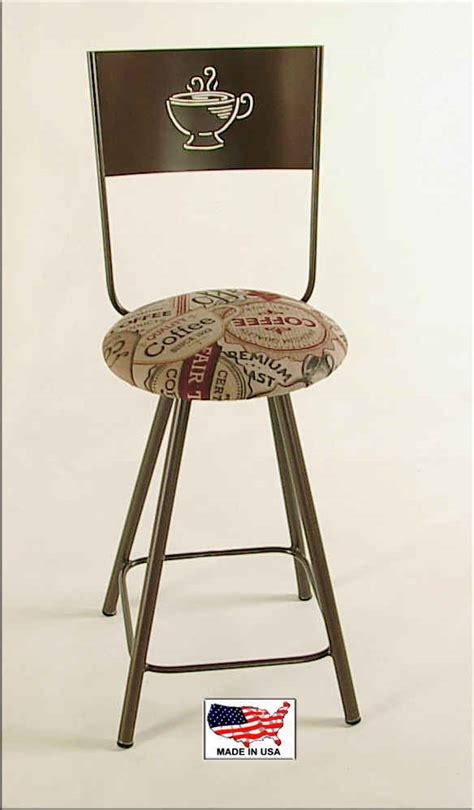 Coffee Cup Bar Stools by Coffee Fabric Java Cafe Theme