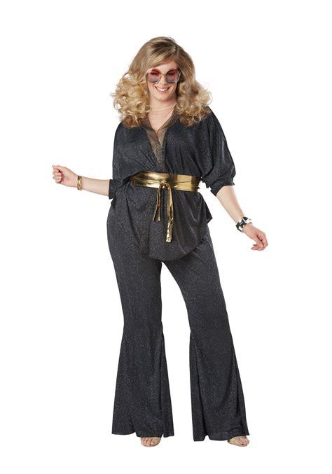 womens costumes disco dazzler plus size costume for