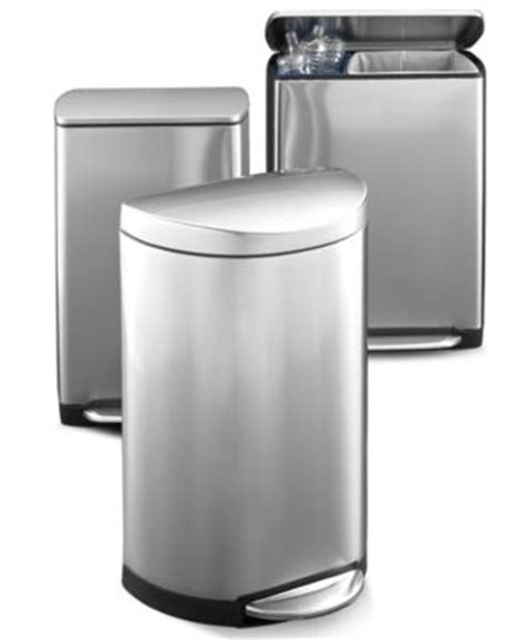 Simplehuman Kitchen Trash Can by Product Not Available Macy S
